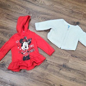 Set of 2 18 Months Fleece and Minnie Mouse Jacket